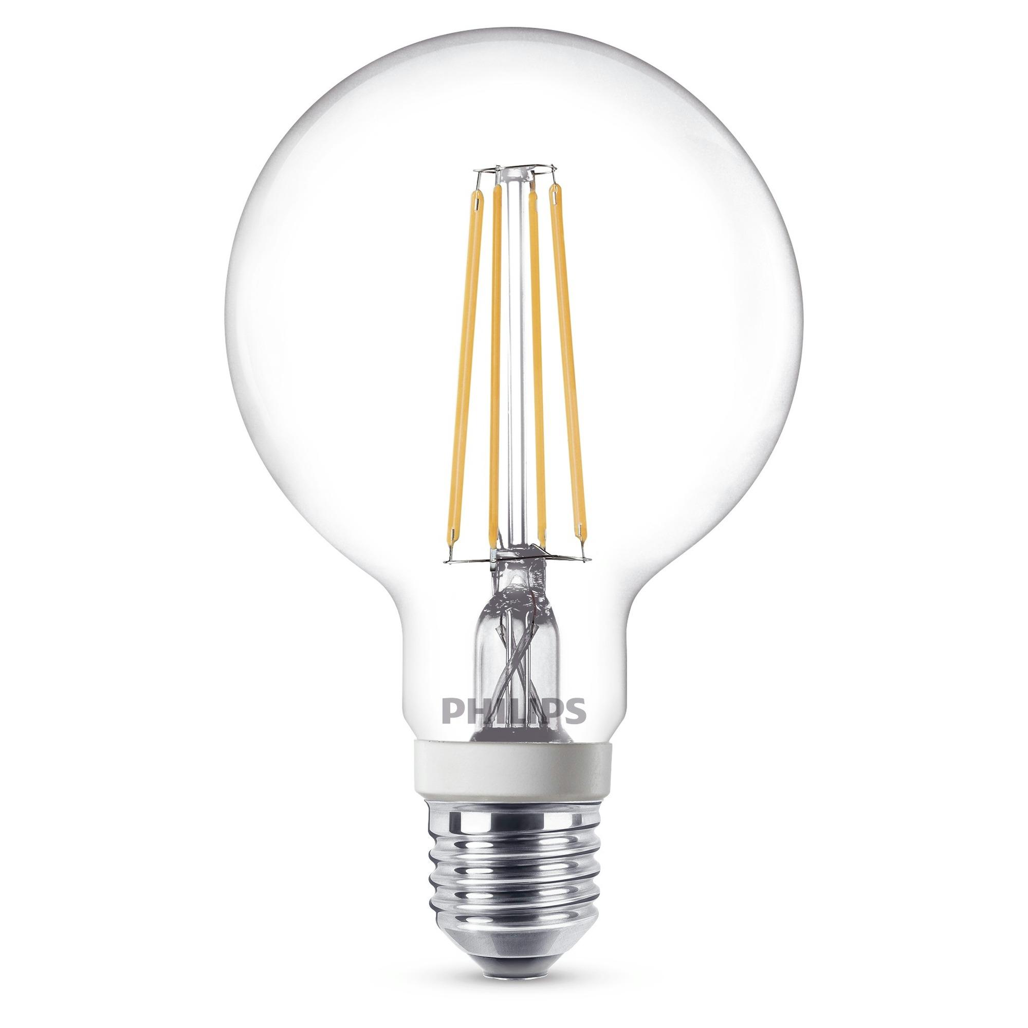 Philips LED-lamp Dimbaar, Filament-Retro-LED E27 Warmwit 7 W = 60 W Peer 1 stuks
