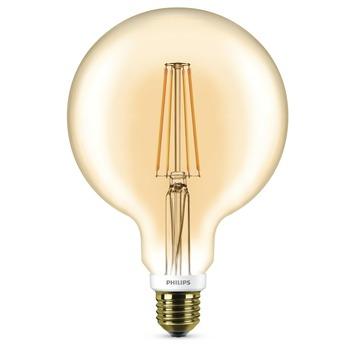 Philips classic LEDlamp E27 50 watt goud dimbaar