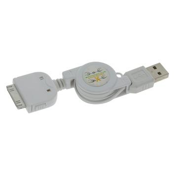 Q-Link laadsnoer kabelroller iPhone 4 0.75 meter wit