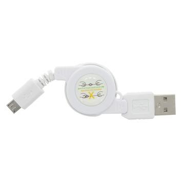 Q-Link laadsnoer kabelroller micro-USB 0.75 meter wit