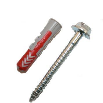 Fischer Duopower plug 10X50 mm met zeskantschroef 4 stuks