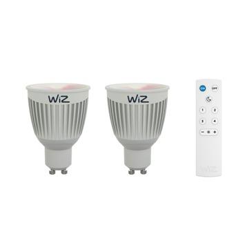WiZ colors LED lamp GU10 2 stuks met afstandbediening