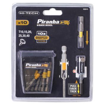 Piranha Screwlock Torx schroefbitset 10 delig X62615-XJ