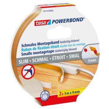 Tesa Powerbond montagetape smal 5 m 9 mm
