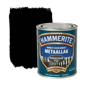 Hammerite metaallak structuur zwart 750 ml