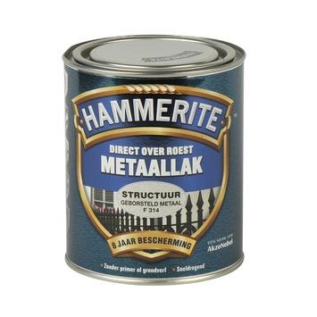 Hammerite metaallak structuur geborsteld metaal 750 ml