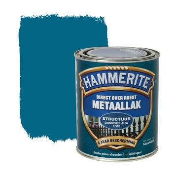 Hammerite metaallak structuur donkerblauw 750 ml