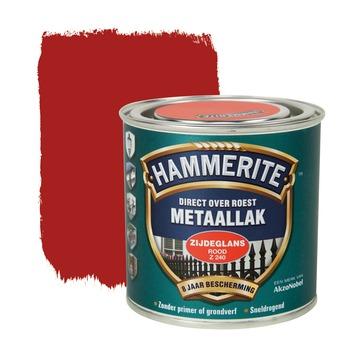 Hammerite metaallak rood zijdeglans 250 ml