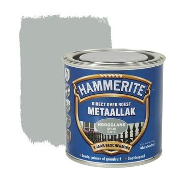 Hammerite metaallak grijs hoogglans 250 ml