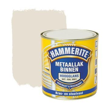 Hammerite metaallak binnen RAL 9001 crème wit hoogglans 500 ml
