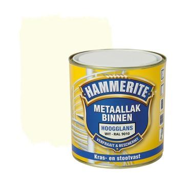 Hammerite metaallak binnen RAL 9010 gebroken wit hoogglans 500 ml
