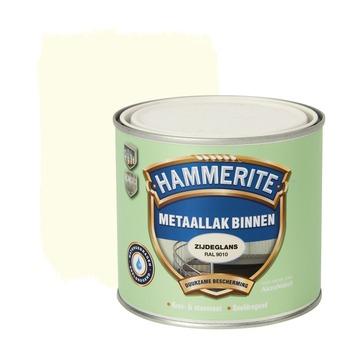 Hammerite metaallak binnen RAL 9010 gebroken wit zijdeglans 500 ml