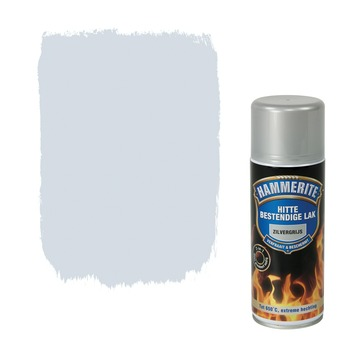 Hammerite spuitlak hittebestendig zilvergrijs hoogglans 400 ml
