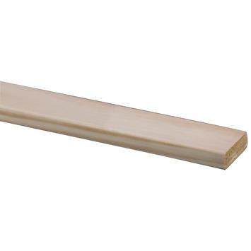 Lat geschaafd grenen D-vorm 18x55mm 210 cm