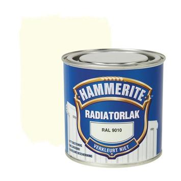 Hammerite radiatorlak RAL 9010 gebroken wit hoogglans 250 ml