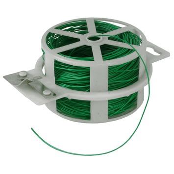 Bindingfix geplast metaaldraad groen ø 0,8mm x 50 meter