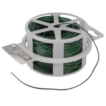 Bindingfix geplastiviseerd metaaldraad groen 1-2mm 50 meter