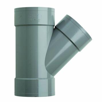 Martens T-stuk 45° PVC grijs 3x lijmverbinding 125x110x125 mm