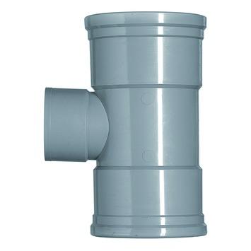 Martens verloop T-stuk PVC grijs 2x schuifmof 1x lijmverbinding 110x75 mm