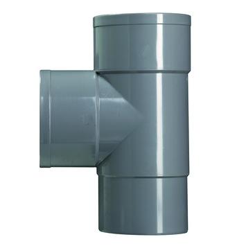 Martens T-stuk PVC grijs 2x lijmverbinding 1 verjongdspie 80x80x80 mm