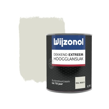 Wijzonol Dekkend Extreem ral 9001 hoogglans 750 ml