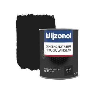 Wijzonol Dekkend Extreem zwart hoogglans 750 ml