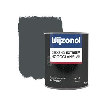 Wijzonol Dekkend Extreem antraciet hoogglans 750 ml