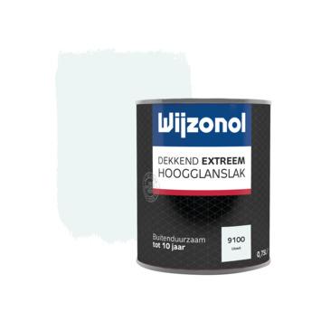 Wijzonol Dekkend Extreem ijswit hoogglans 750 ml
