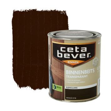 CetaBever binnenbeits transparant wenge zijdeglans 750 ml