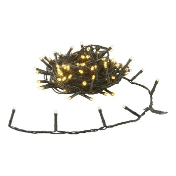 Kerstverlichting buiten LED 120 lampjes warm wit inclusief opbergdoos