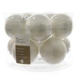 Kerstballen glas wit Ø6 cm 10 stuks