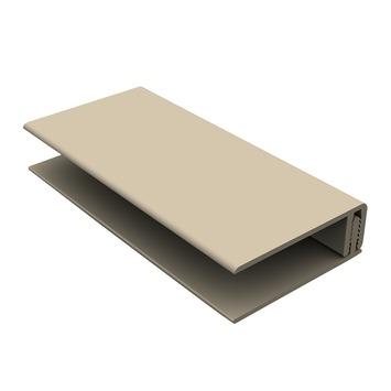 Durasid gevelbekleding tweedelig randprofiel RAL1015 250 cm