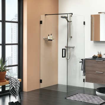 Get Wet Douchewand voor Swingdeur I AM 100x200 cm Zwart