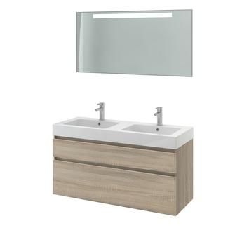 gamma bruynzeel monta badmeubelset met spiegel grijs