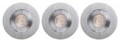 GAMMA inbouwspots LED 3X9,3W aluminium rond richtbaar