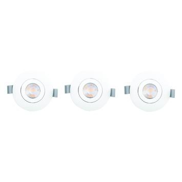 GAMMA inbouwspot LED 3X9,3W richtbaar wit
