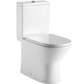Lafiness staand toilet zonder spoelrand wit