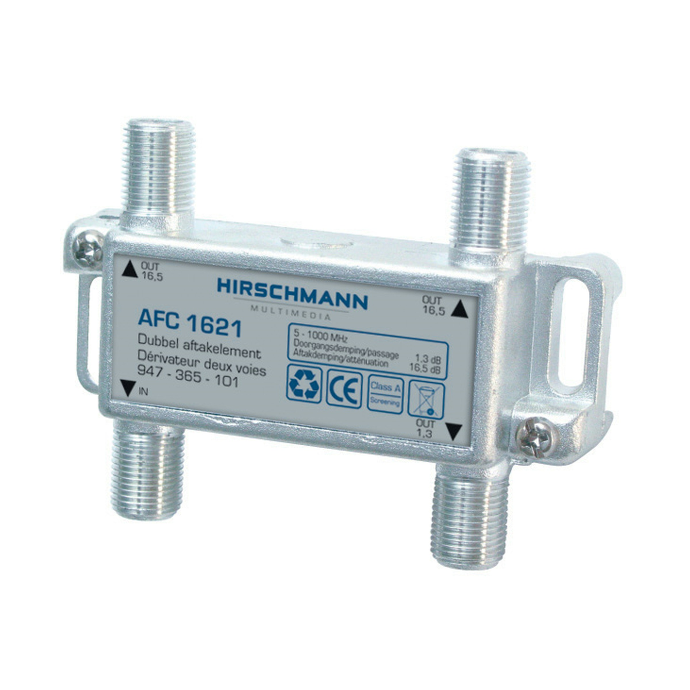 Hirschmann aftakelement 2 voudig F-connector AFC1621