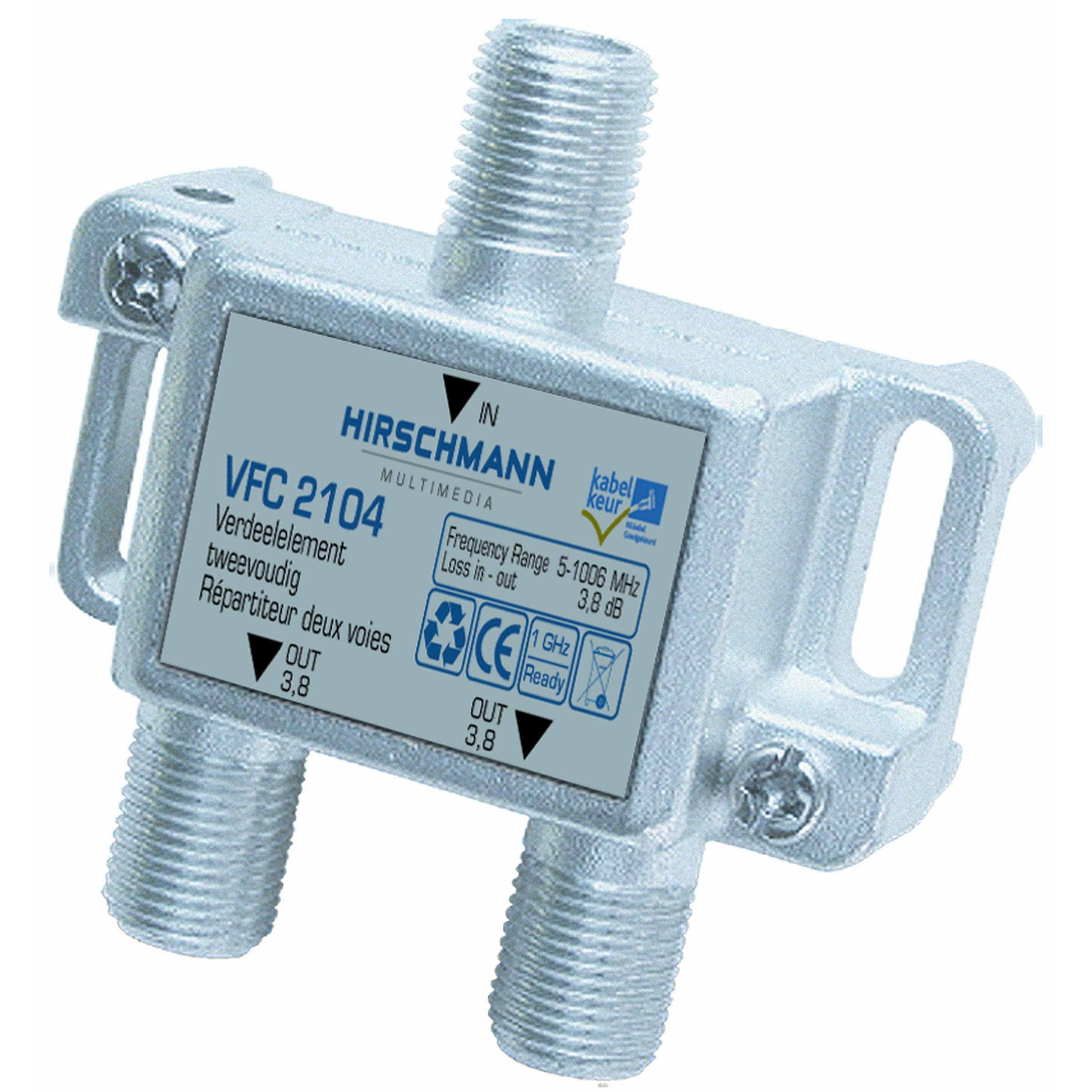 Hirschmann tweeverdeler F-connector VFC 2104