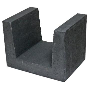 U-element Beton Zwart 30x40x30 cm