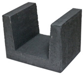 U-element zwart 30x40x30 cm per stuk