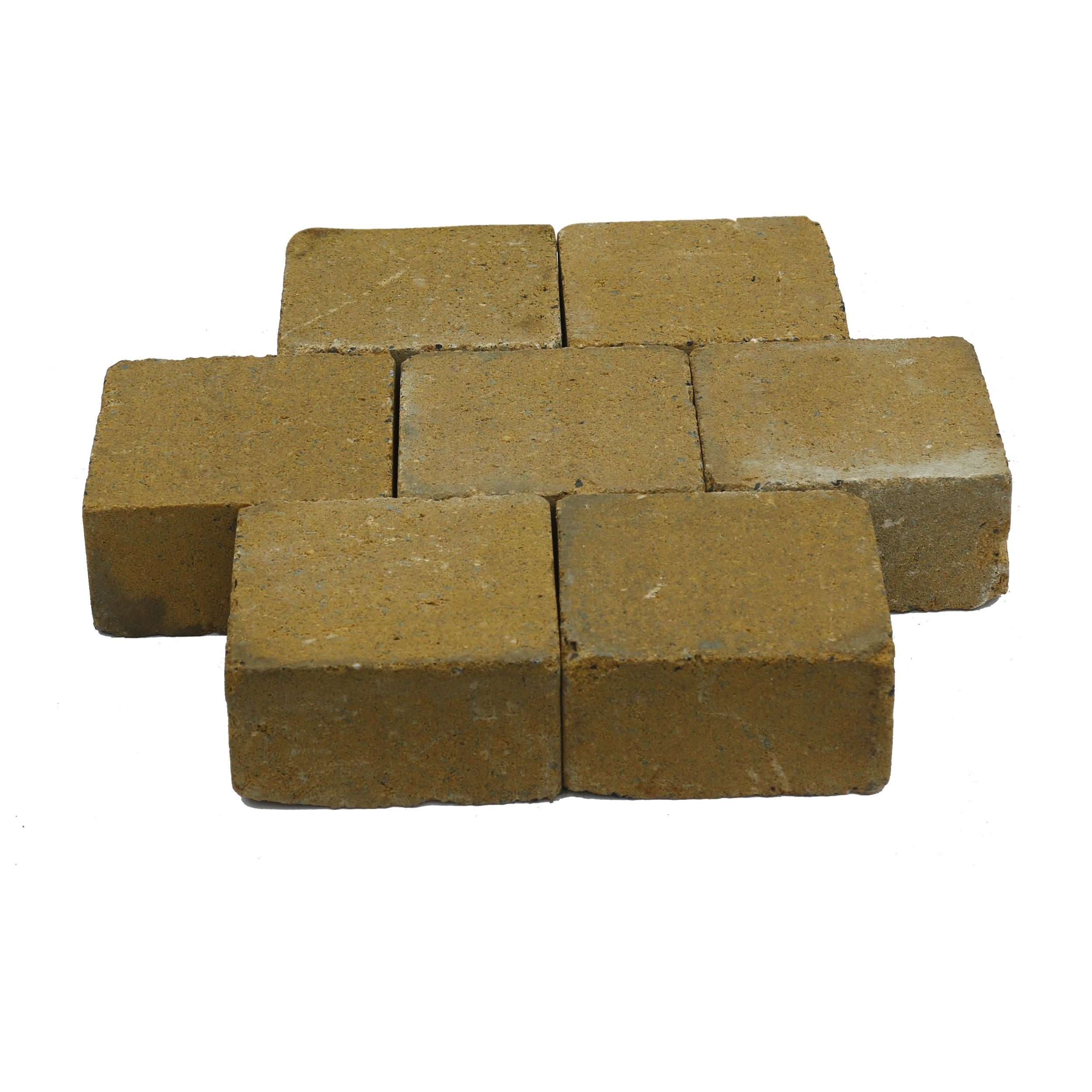 Trommelsteen Beton Geel 14x14x7 cm - 315 Stuks - 6,18 m2