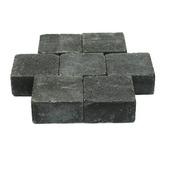 Trommelsteen antraciet 14x14x7cm per laag
