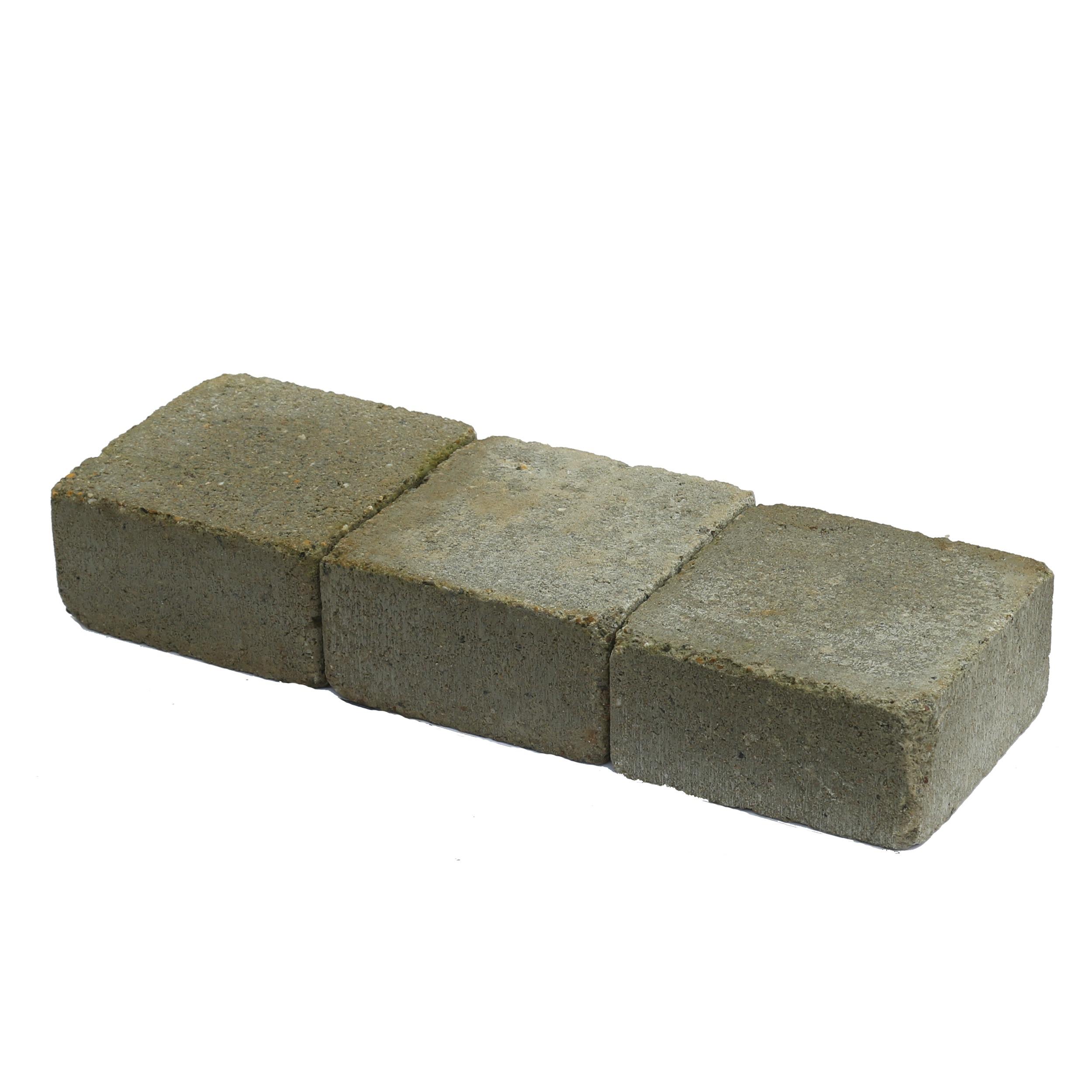 Trommelsteen Beton Grijs 14x14x7 cm - 315 Stuks - 6,18 m2