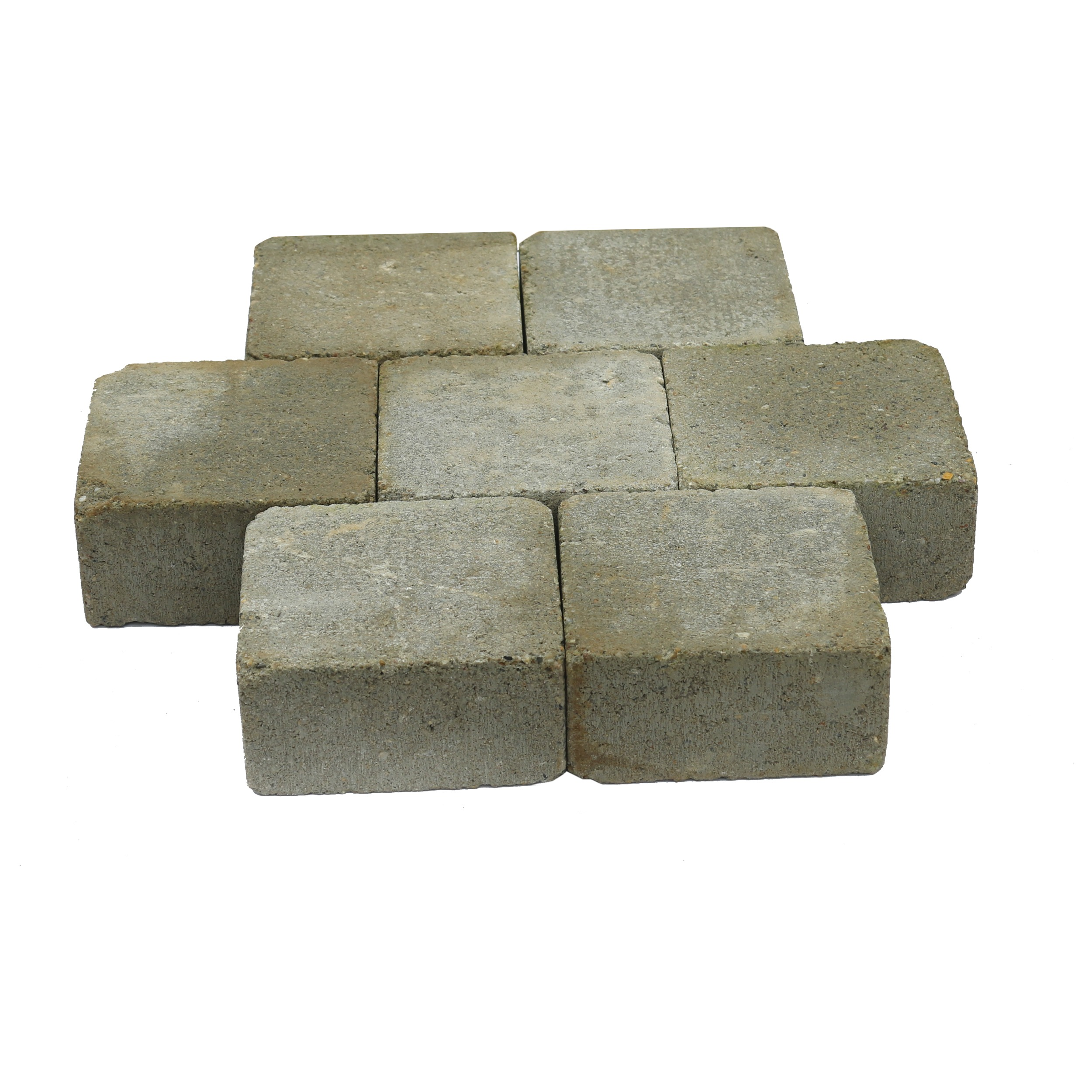 Trommelsteen Beton Grijs 14x14x7 cm - 45 Stuks - 0,88 m2