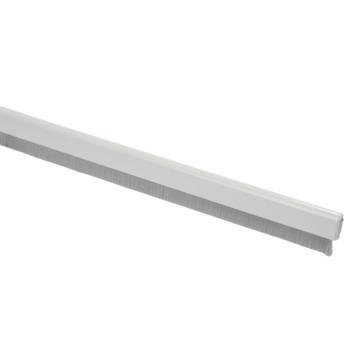 Handson tochtstrip flexibel met borstel aluminium wit 93 cm