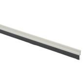 Handson tochtstrip met borstel zelfklevend aluminium wit 93 cm
