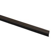 Handson tochtstrip aluminium 93 cm met borstel bruin