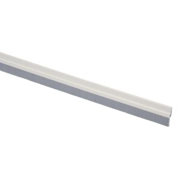 Handson tochtstrip met grijze borstel zelfklevend aluminium wit 93 cm