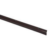 Handson tochtstrip met rubber lip bruin 93 cm